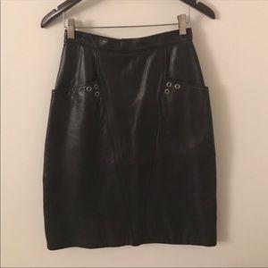 Dresses & Skirts - Custom vintage 100% lamb leather skirt